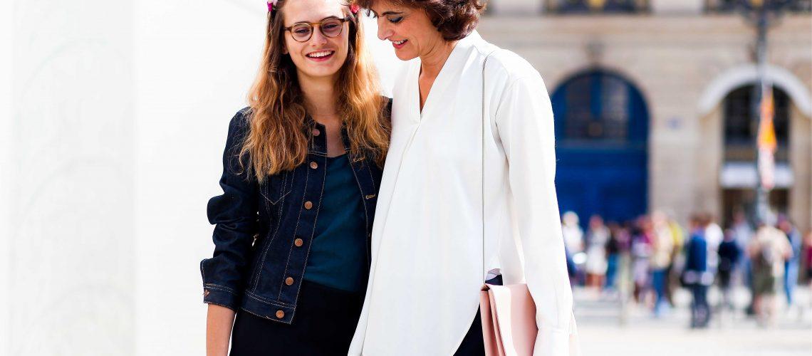 Ines de la Fressange and Violette d Urso - Paris Fashion Week Haute-Couture FW14-15 (2)