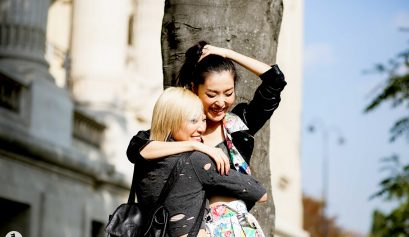 Models Soo Joo and Sunghee Kim - Paris fashion week RDT SS15 (1)
