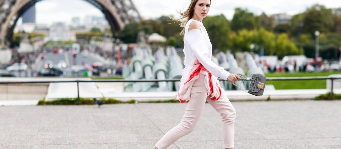 Street style, Landiana arriving at Hermes Spring-Summer 2018 show held at Palais de Chaillot, Paris, France, on October 2nd, 2017. Photo by Marie-Paola Bertrand-Hillion/ABACAPRESS.COM